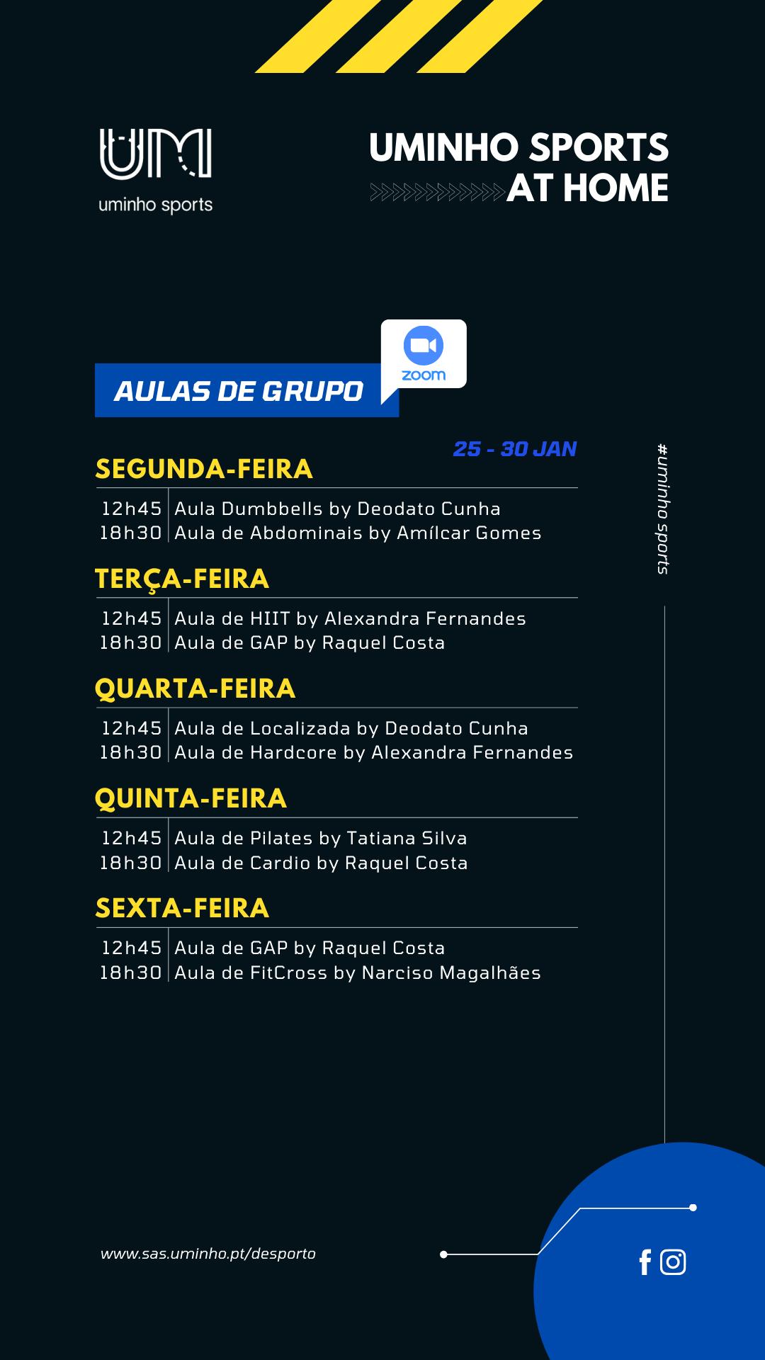 Agenda - 25 a 30 de janeiro (grupos)