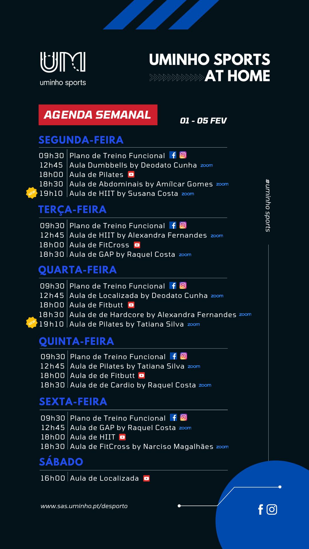 Agenda - 01 a 05 de fevereiro