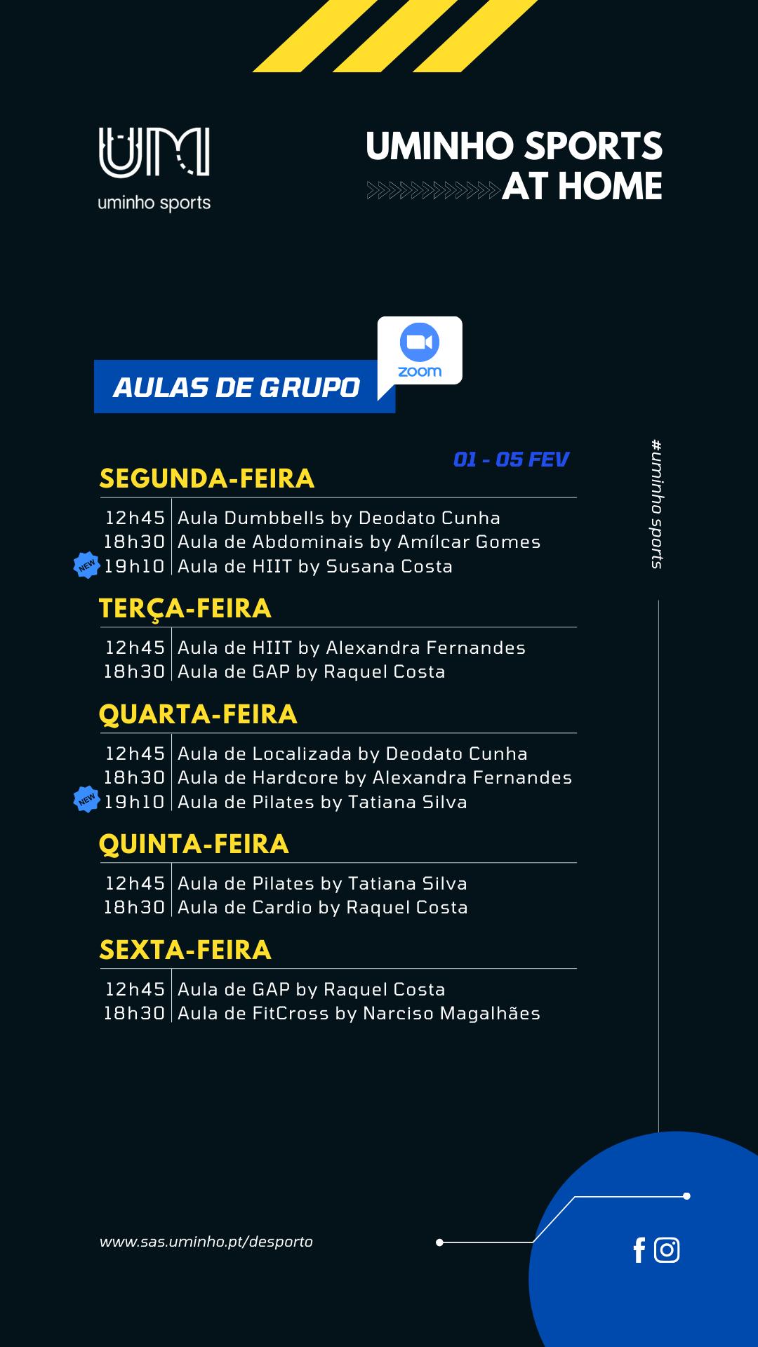 Agenda - 01 a 05 de fevereiro (grupos)