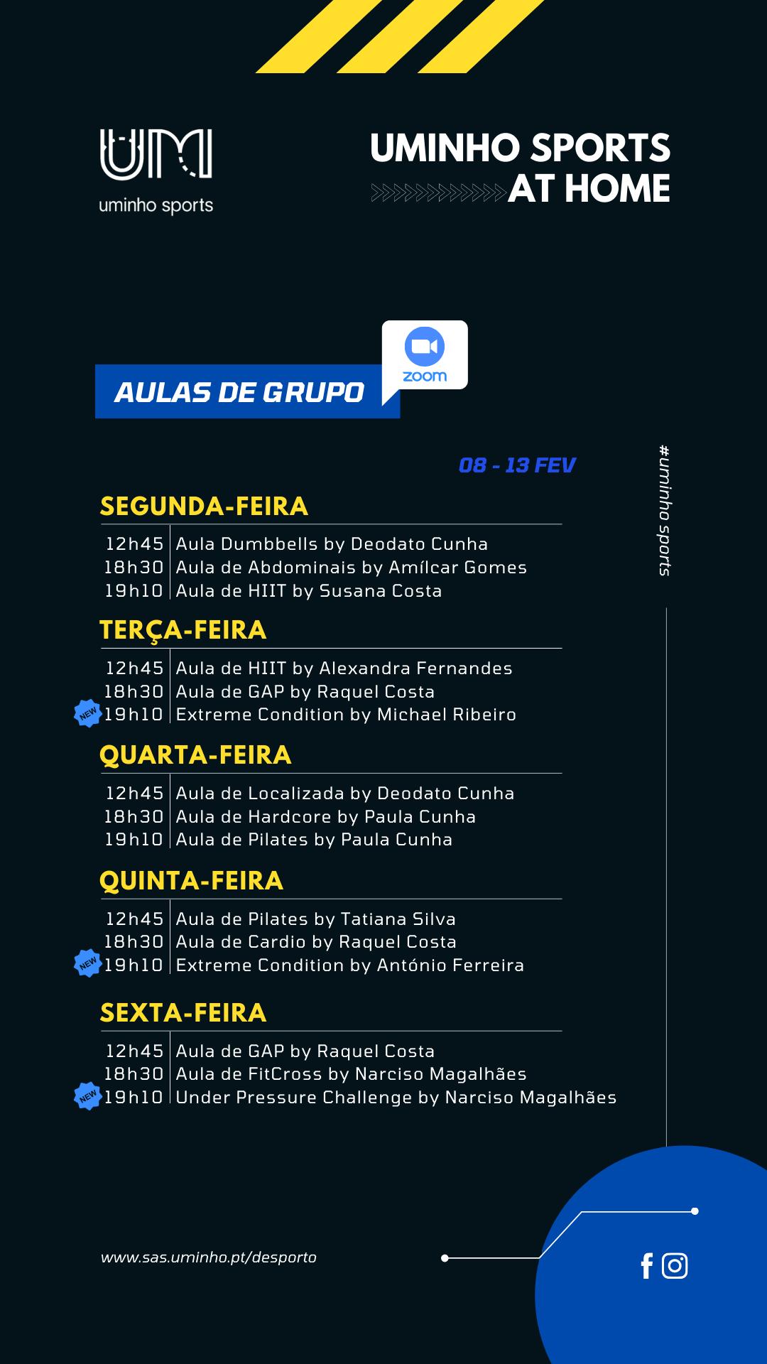 Agenda - 08 a 13 de fevereiro (grupos)
