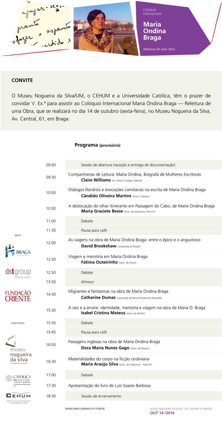 Convite/Programa