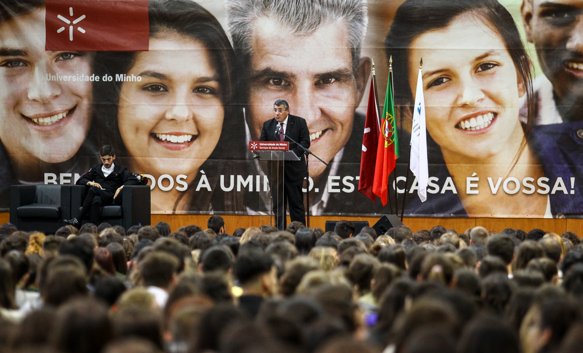 Discurso do reitor (foto de Nuno Gonçalves/UMdicas)