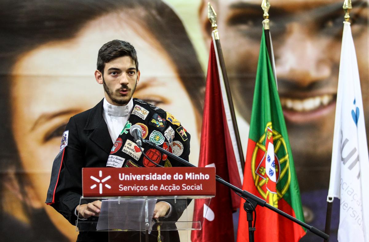 Discurso do presidente da AAUM (foto de Nuno Gonçalves/UMdicas)