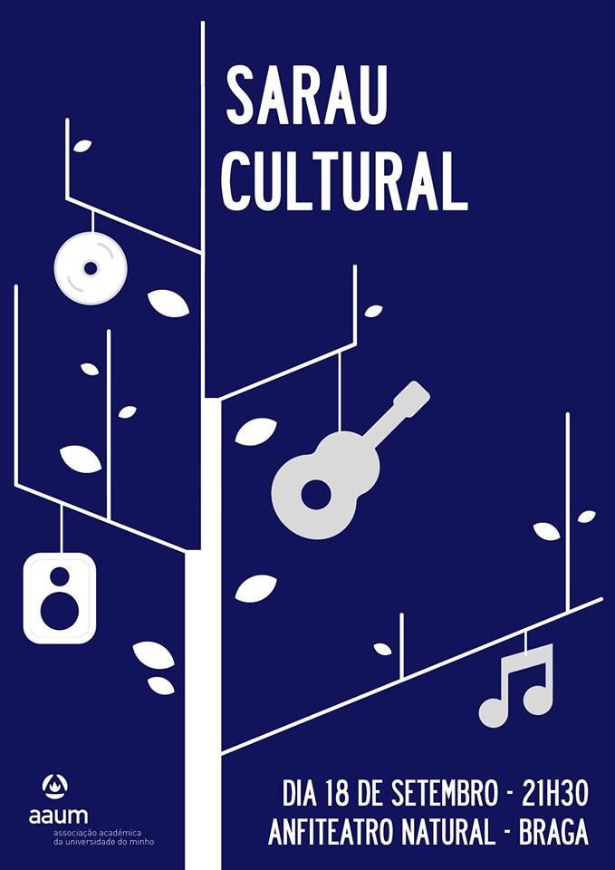 Sarau Cultural - poster Braga