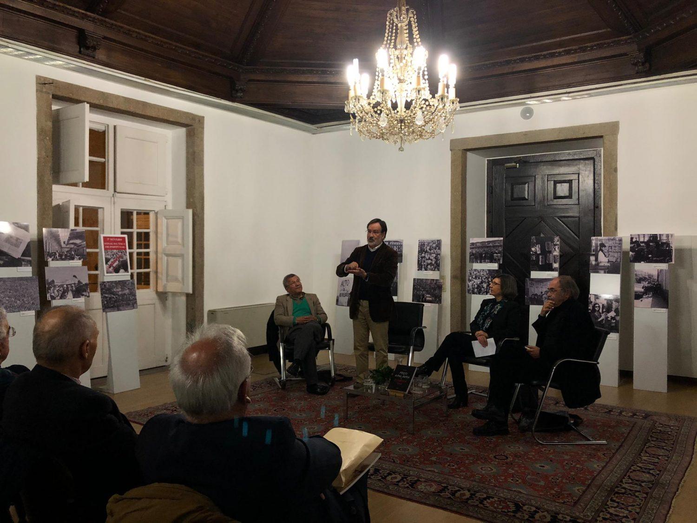 Apresentação do livro de Alberto Martins (foto de Ana Sousa/ComUM)