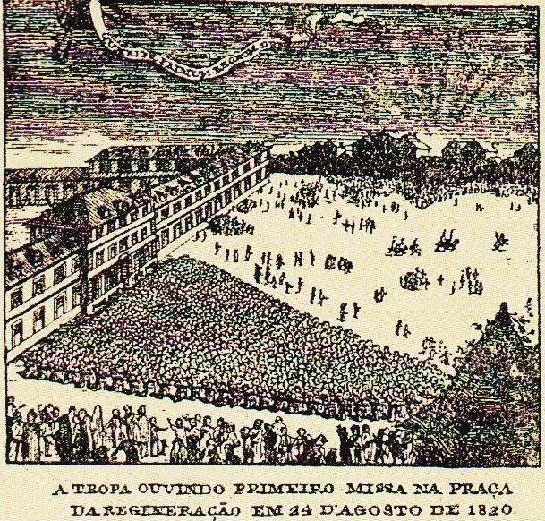 Gravura coligida por Pedro Vitorino na obra Iconografia Histórica Portuense