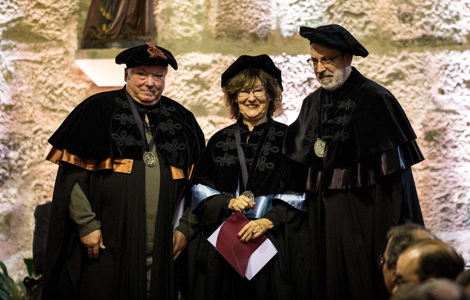 José Maia Neves e Cecília Leão professores eméritos (foto: Nuno Gonçalves)