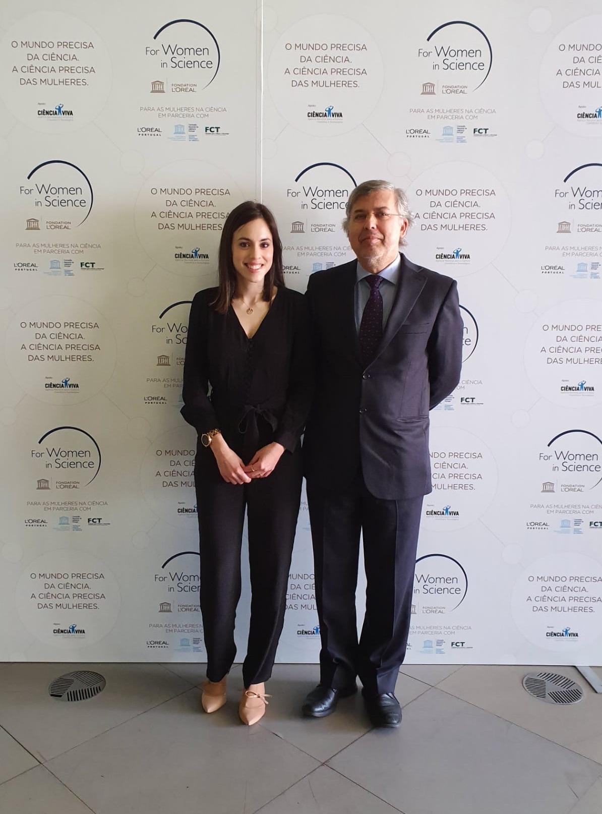 Diana Priscila Pires com o vice-reitor Eugénio Campos Ferreira