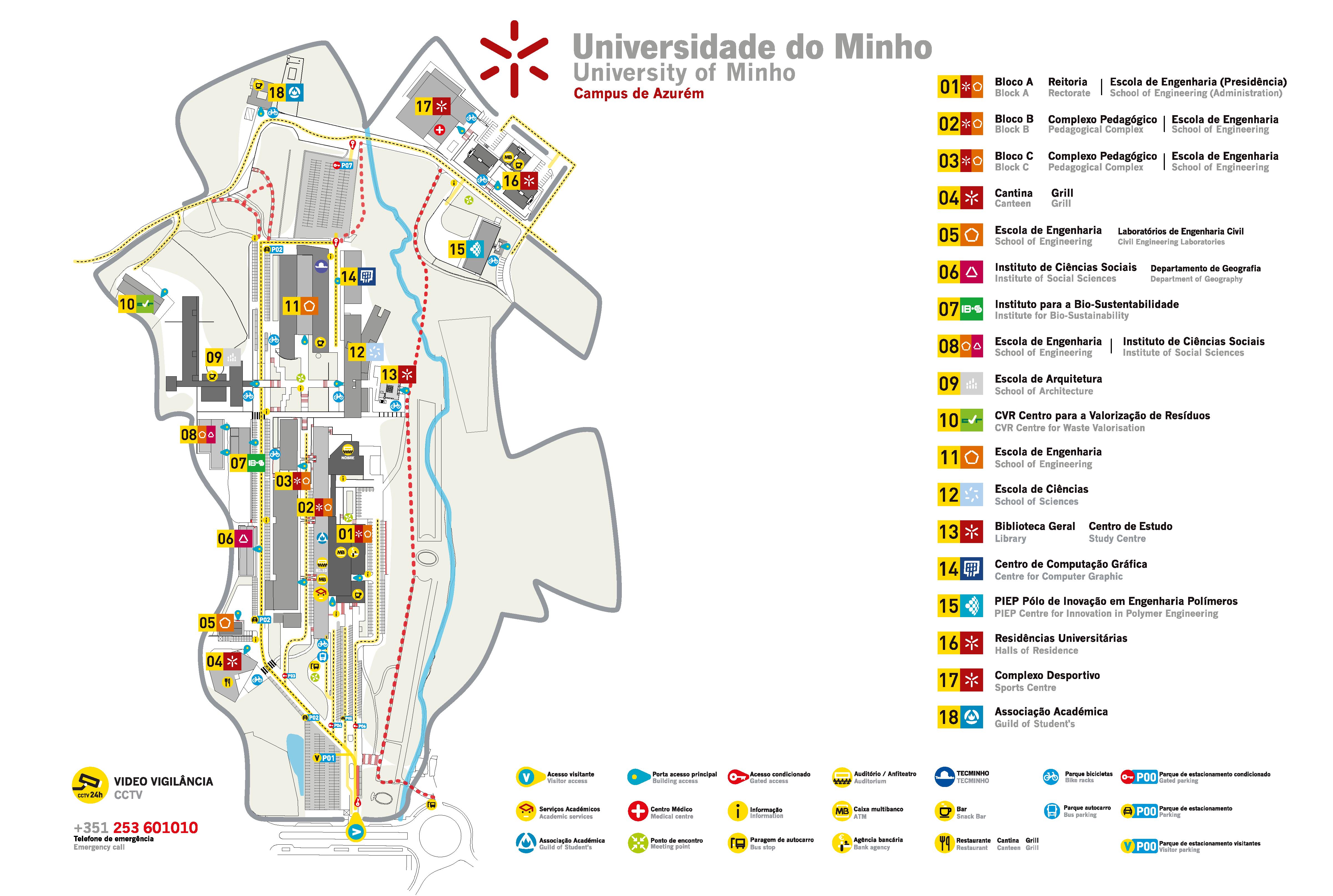 campus de gualtar mapa Plantas campus de gualtar mapa